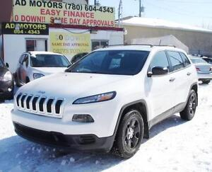 "2014 JEEP CHEROKEE SPORT AUTO ""NO ACCIDENT"" 90K 100% FINANCING!!"