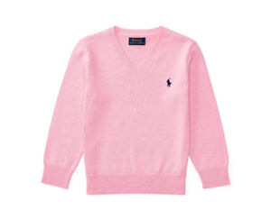 BRAND NEW RALPH LAUREN COTTON V-NECK SWEATER