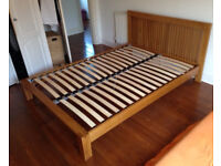 Solid Oak Sprung Double Bed frame