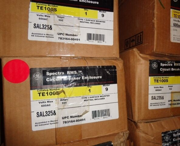 BRAND NEW IN BOX GE SPECTRA RMS CIRCUIT BREAKER ENCLOSURE CAT. TE100S
