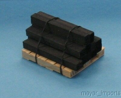 Pallet w/ Stack of Creosote Wood / Lumber- G Scale - (Stack Pallet)