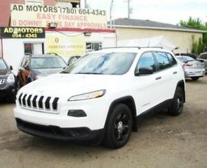 """NO ACCIDENT""  2014 JEEP CHEROKEE SPORT AUTO 90K 100% FINANCING"