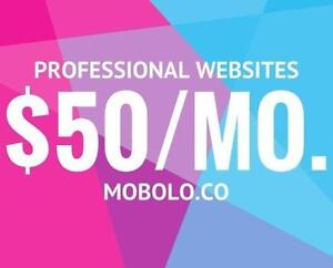 Professional Website Design and Maintenance - $50/month - Web Design - Call Today: 1 833-4-MOBOLO
