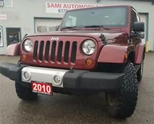 2010 Jeep Wrangler Sahara HARD TOP AND SOFT TOP 2 YRS  WAR 4X4