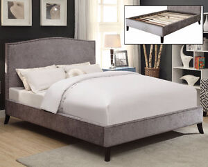 GORGEOUS UPHOLSTERED PLATFORM BEDS-2 COLOURS