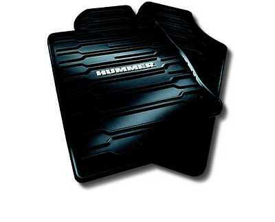 06 10 Hummer H3 Floor Mats All Weather Ebony Front Rear Gm