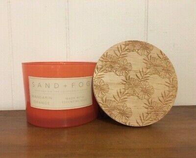 SAND + FOG Mandarin Orange Wood Lid Glass Jar - Sand Jars