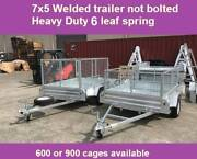 7X5 box tip trailer ! Hot dip Galvanised tipper New WITH 600 CAGE Noble Park North Greater Dandenong Preview