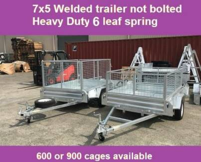 7X5 box tip trailer ! Hot dip Galvanised tipper New WITH 600 CAGE