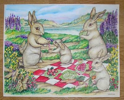 ACEO Limited Edition A picnic with mom