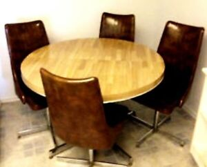 Dining Wooden set, expandable table+ 4 chairs