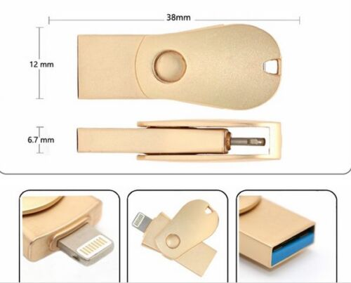 128GB 3 in 1 OTG USB Memory Flash Drive U Disk For IOS iPhone Android Phone/PC 97