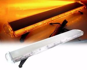 NEW EMERGANCY 55 INCH AMBER 15 MODE AMBER STROBE LIGHT BAR