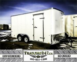 NEW 8.5X16FT CARGO TRAILER-DRYMAX/RADIALS/LEDS/ONE PIECE ROOF