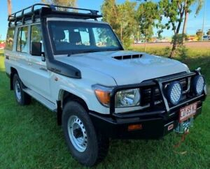 2019 Toyota Landcruiser VDJ76R Workmate White 5 Speed Manual Wagon Berrimah Darwin City Preview