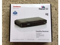 Goodmans Freesat set top box. With remote. Good working order. in original box and instructions.
