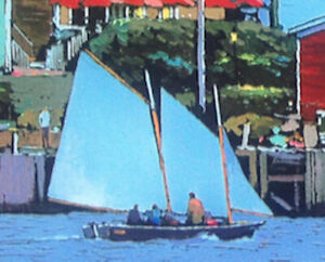 24' Sailboat with Michele Stevens' sails.
