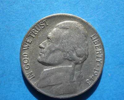 - 1948-S   Jefferson Nickel   'free shipping'  'scarce' free