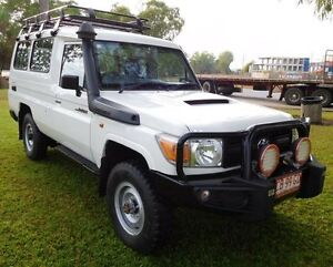 2011 Toyota Landcruiser VDJ78R MY10 Workmate Troopcarrier White 5 Speed Manual Wagon Hidden Valley Darwin City Preview