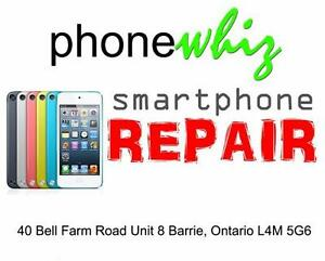 APPLE IPOD TOUCH SCREEN REPAIRS - ALL MODELS - SAME DAY SERVICE