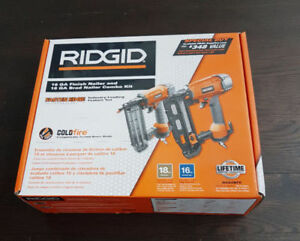 Brand new in Box Ridgid two nailer combo: 16g and 18g brad