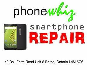 MOTOROLA X PLAY SCREEN REPAIR - PHONEWHIZ BARRIE (705) 999-0054