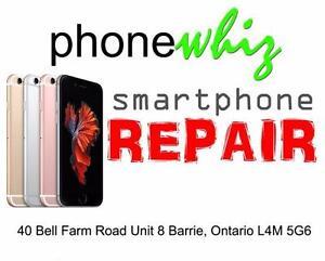 APPLE IPHONE 6S / 6S Plus BROKEN / CRACKED GLASS SCREEN REPAIR - PHONEWHIZ BARRIE (705) 999-0054