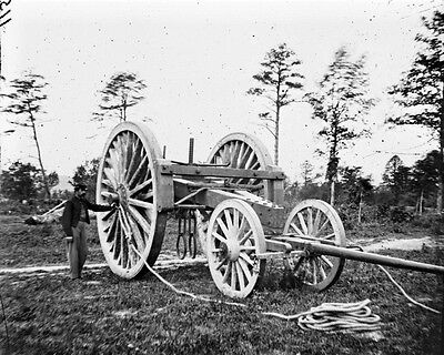 New 8x10 Civil War Photo: Sling Cart for Big Guns Cannon at Dutch Gap