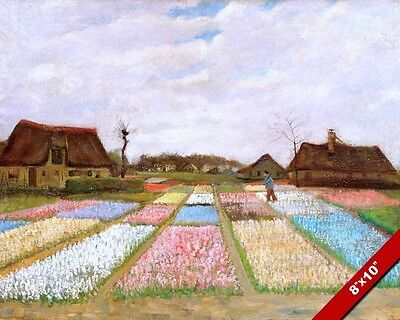 THE FLOWER BEDS OF HOLLAND VINCENT VAN GOGH PAINTING ART REAL CANVAS PRINT TULIP