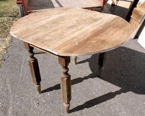 Table à Battants en Bois Antique