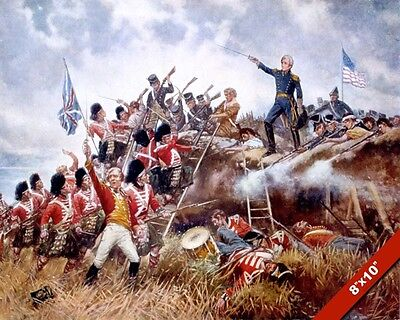 Battle Of New Orleans Painting Us Andrew Jackson War Of 1812 Art Canvas Print