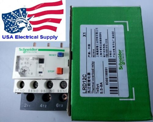 LRD12C Thermal Overload Relay  5.5-8 Amp.