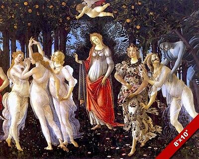 ALLEGORY OF SPRING PRIMAVERA BOTTICELLI PAINTING RENAISSANCE ART CANVAS PRINT