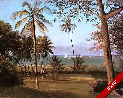SAILBOATS IN A FLORIDA BAY SCENIC VISTA SCENE CANVAS GICLEE ART PAINTING PRINT