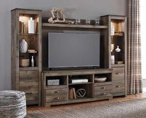 Trinell Wall Unit with Electric Fireplace