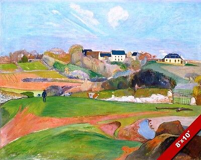 LE POULDU FRANCE FRENCH LANDSCAPE GAUGUIN PAINTING ART REAL CANVAS GICLEE PRINT