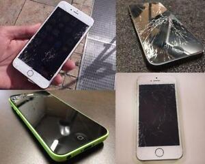 *[ iPHONE / iPAD REPAIR ]* iPHONE 6S/6, 6S/6 PLUS, SE, 5S, 5C, 5,4/4S CRACKED SCREEN,CHARGING PORT,CAMERA,BATTERY & MORE