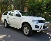 2014 Mitsubishi Triton MN MY15 GLX Double Cab White 4 Speed Sports Automatic Utility Medindie Walkerville Area Preview