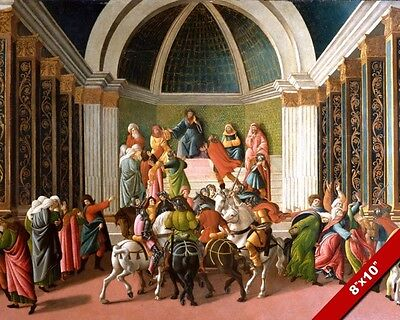 THE STORY OF VIRGINIA PAINTING BY SANDRO BOTTICELLI ART REAL CANVAS PRINT