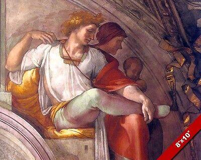 HIGH PRIEST ELEAZAR MICHELANGELO SISTINE CHAPEL PAINTING ROME ART CANVAS PRINT