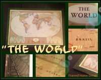 """THE WORLD"" ART/WALL DECOR"