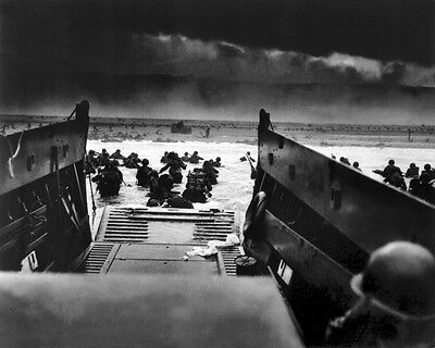 New 8x10 World War II Photo: U.S Solders Landing in France for D-Day Invasion