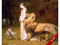 Sepia PEACE ANGEL Lion LAMB Sheep COW Wolf CANVAS LARGE