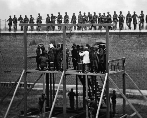 New 8x10 Photo: Adjusting Ropes for Hanging Execution of Lincoln Conspirators