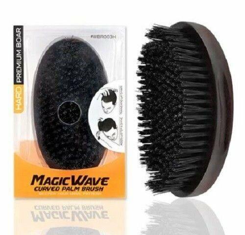 Premium Boar Magic Wave Curved Palm Brush