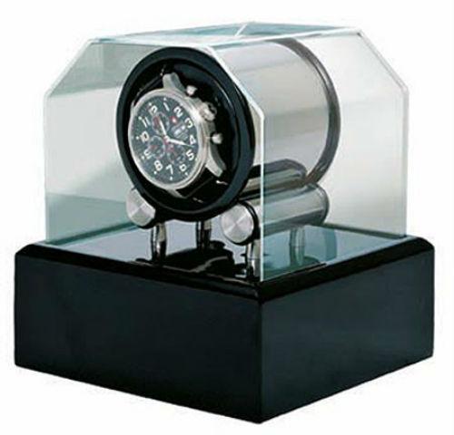 Orbita Futura 1 Black Lacquer Single Watch Winder W34002 Dual Power Programmable