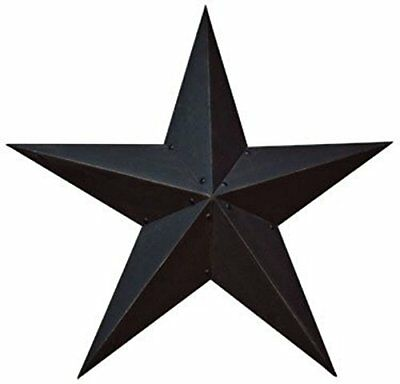 Large Dimensional Steel Metal Barn Star, 36-inch, Black Textured Matte Finish, N