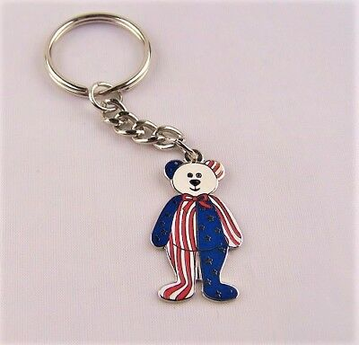 - Patriotic Flag Keychain Teddy Bear Political Rally American Stars and Stripes