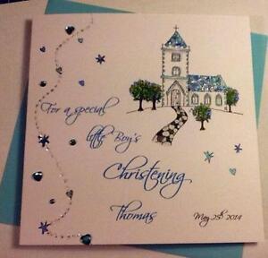 Handmade cards ebay handmade christening cards colourmoves