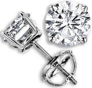 Genuine Diamond Stud Earrings